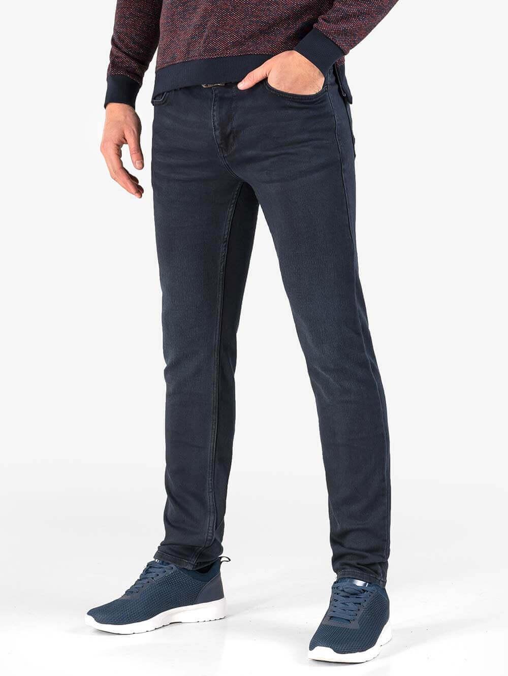 1596983b924 Слим фит мъжки дънки в индигово синьо   Мъжки Дънки от INDIGO Fashion