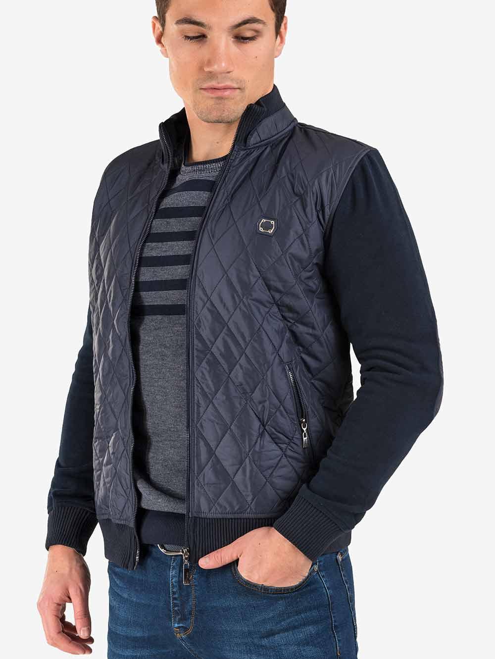 5790c6c4bba Мъжко пролетно-есенно яке - тъмно синьо   Мъжки Якета от INDIGO Fashion