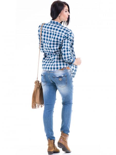 Дамски дънки ESTERO RAGAZZA с колан 11ESR-8308 - аутфит гръб