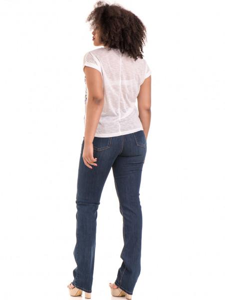 Класически дамски дънки LACARINO B1549 с колан - деним E