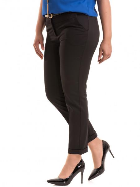 Дамски панталон F.L.M с колан 520 - черен