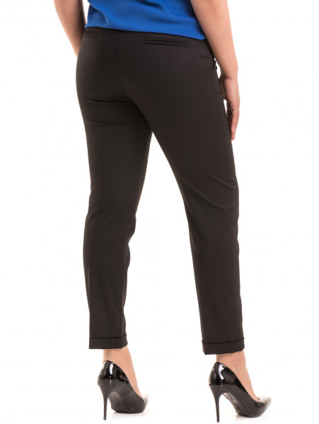 Дамски панталон F.L.M с колан 520 - черен B