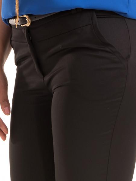 Дамски панталон F.L.M с колан 520 - черен D