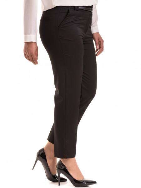 Елегантен дамски панталон F.L.M с колан 524 - черен