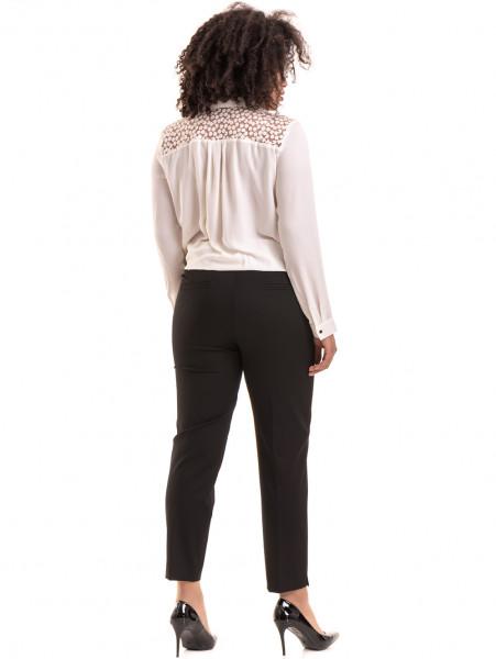 Елегантен дамски панталон F.L.M с колан 524 - черен E