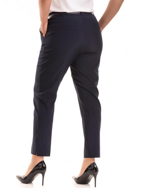 Елегантен дамски панталон F.L.M. с колан 533 - син B