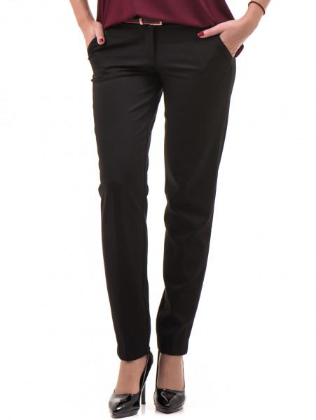 Дамски панталон F.L.M с колан 654 - черен
