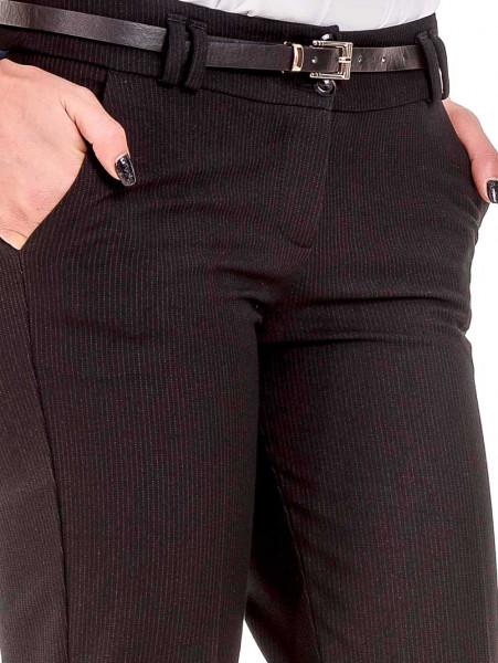 Дамски елегантен панталон F.L.M с колан  777- черен D