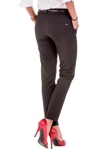 Дамски елегантен панталон F.L.M с колан  777- черен B