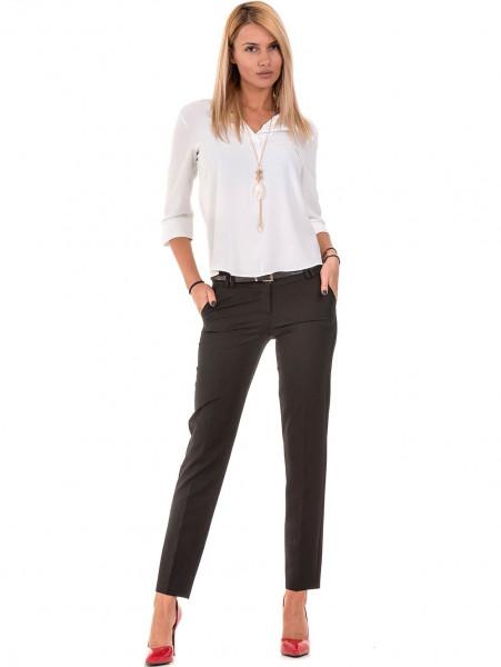 Дамски елегантен панталон F.L.M с колан  777- черен C