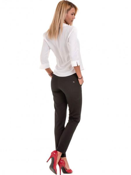 Дамски елегантен панталон F.L.M с колан  777- черен E