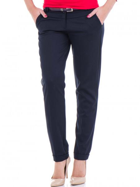 Дамски панталон F.L.M. с колан 900 - тъмно син