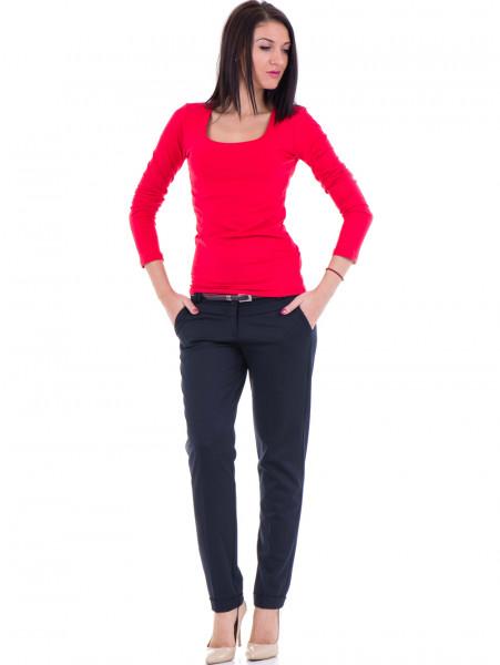 Дамски панталон F.L.M. с колан 900 - тъмно син C
