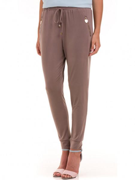 Дамски панталон JOY MISS 30078 - цвят капучино
