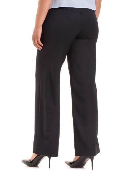 Дамски панталон KGS с колан 6618 - тъмно син B