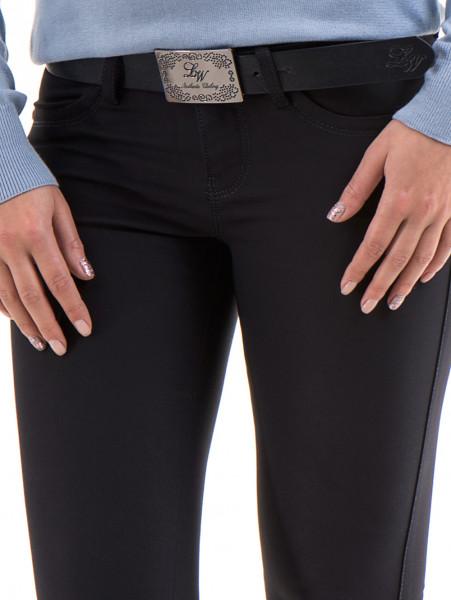 Дамски панталон LACARINO с колан 3126 - тъмно синьо D
