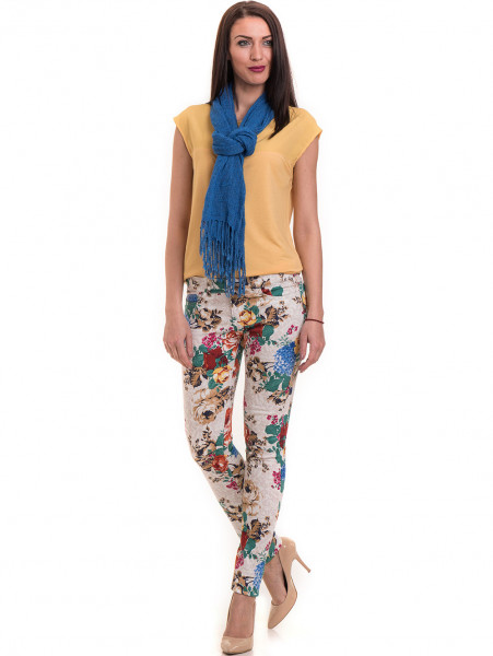 Дамски панталон MISS POEM 43728 - светло бежов C