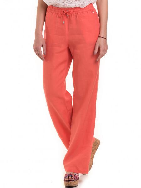 Ленен дамски панталон XINT 330 - цвят корал