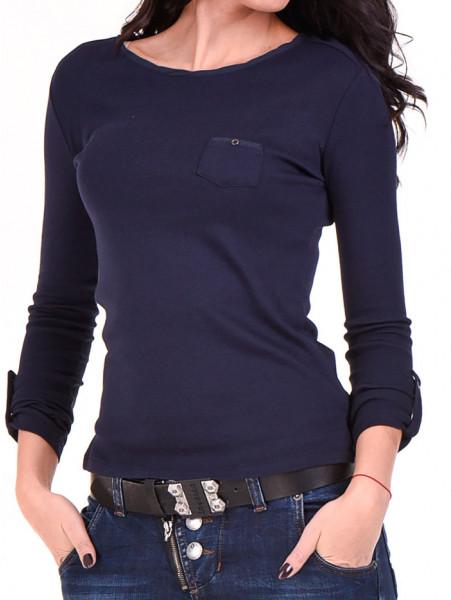 Дамска спортна блуза STAMINA 201 - тъмно синя D