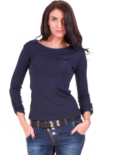 Дамска спортна блуза STAMINA 201 - тъмно синя