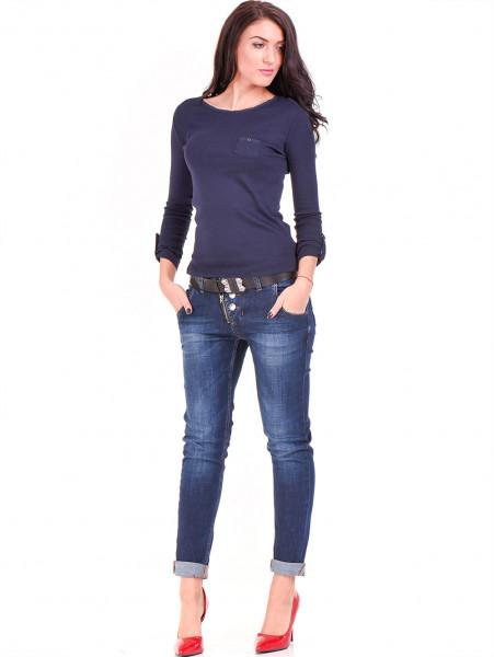 Дамска спортна блуза STAMINA 201 - тъмно синя C