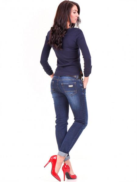 Дамска спортна блуза STAMINA 201 - тъмно синя E