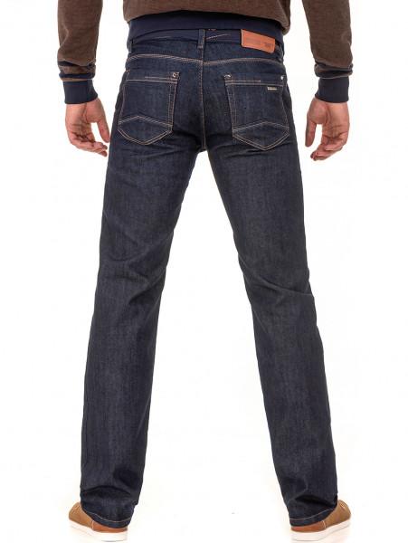 Мъжки класически дънки LACARINO 2678 с колан - тъмен деним B
