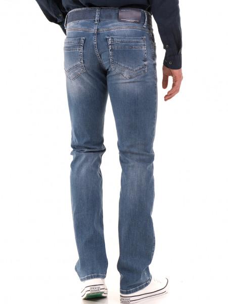 Мъжки класически дънки LACARINO 3186 с колан - деним B