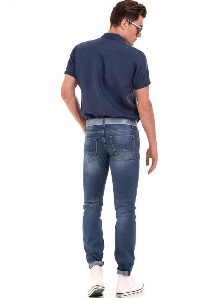Мъжки дънки LACARINO 3402 с колан - деним E