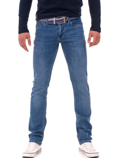 Мъжки класически дънки LACARINO 3857 с колан - деним