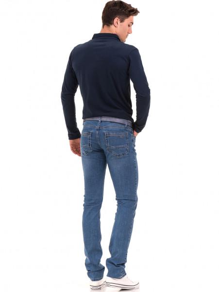 Мъжки класически дънки LACARINO 3857 с колан - деним E