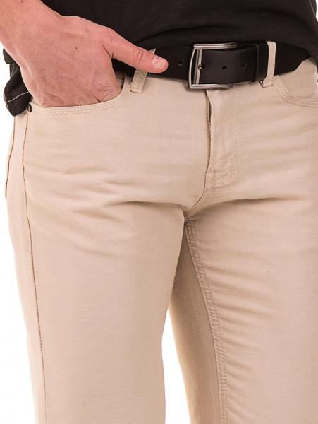 Класически мъжки панталон LACARINO 1022 - светло бежово D