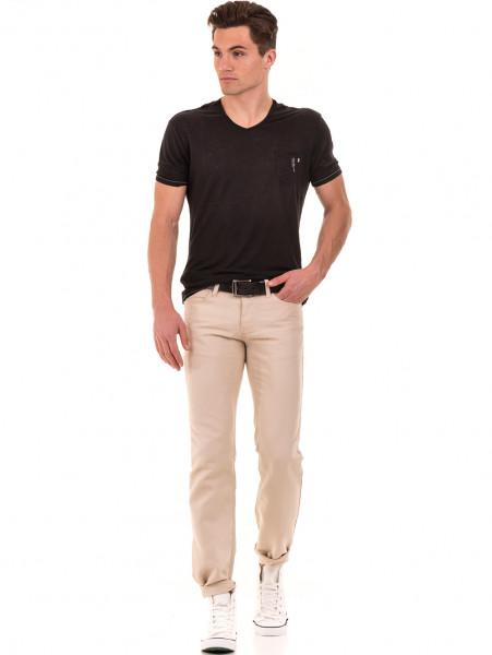 Класически мъжки панталон LACARINO 1022 - светло бежово C