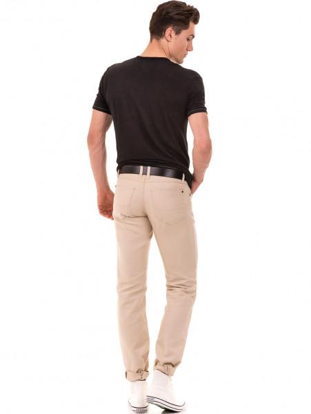 Класически мъжки панталон LACARINO 1022 - светло бежово E