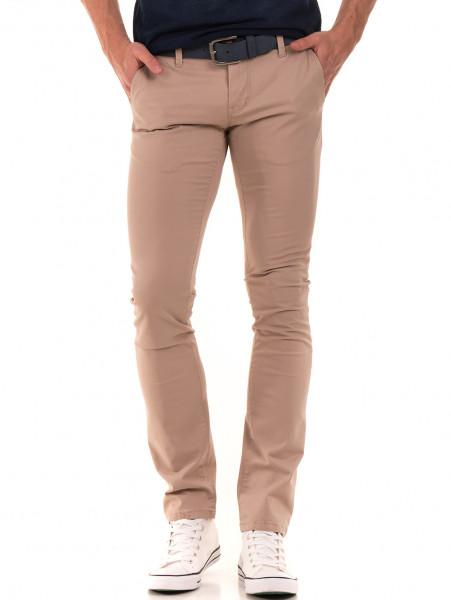 Слим фит мъжки панталон LACARINO 2587 - светло бежово