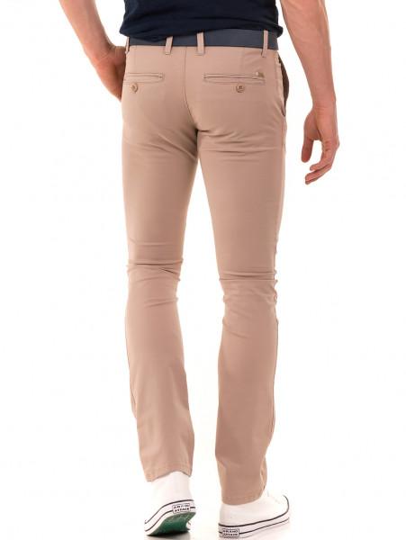 Слим фит мъжки панталон LACARINO - светло бежово B