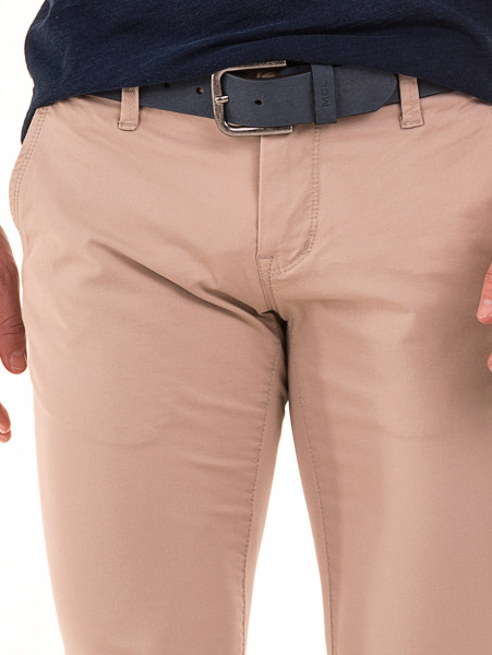 Слим фит мъжки панталон LACARINO - светло бежово D