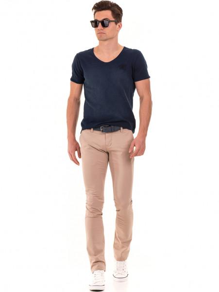 Слим фит мъжки панталон LACARINO - светло бежово C