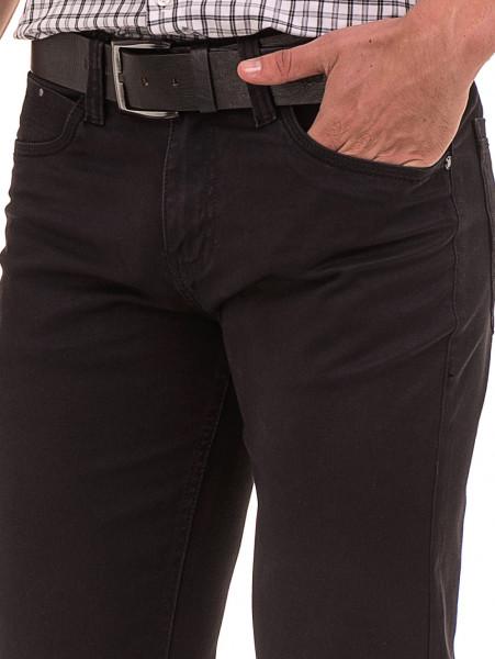 Класически мъжки панталон  LACARINO с колан 3071 - тъмно сив D