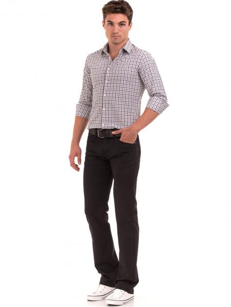 Класически мъжки панталон  LACARINO с колан 3071 - тъмно сив C