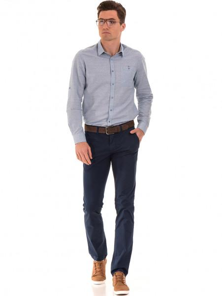 тМъжки спортно елегантен панталон PADOFF 1034 - тъмно син C