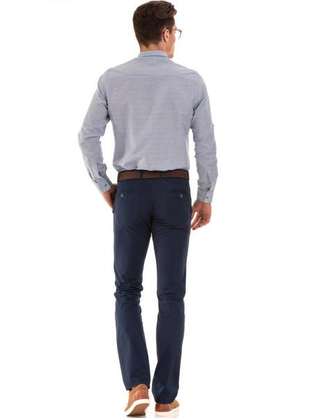 Мъжки спортно елегантен панталон PADOFF 1034 - тъмно син E