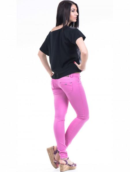 Дамска блуза с къс ръкав VIGOSS 10091 - черна E