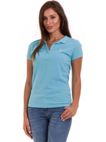 Дамска блуза с яка JOGGY GIRLS 4802 - светло синя