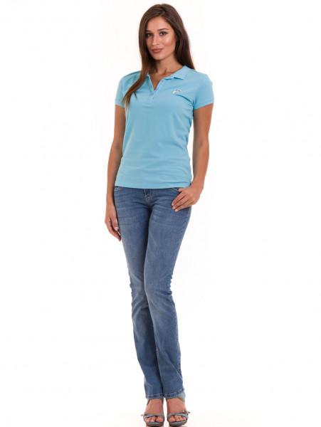Дамска блуза с яка JOGGY GIRLS 4802 - светло синя C