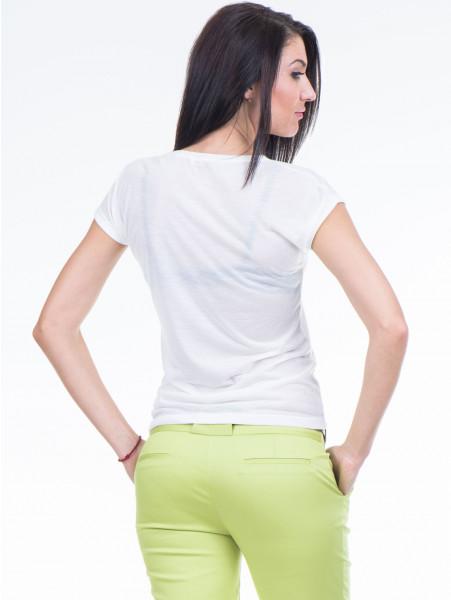 Дамска тениска с флорален десен JOGGY GIRLS 4862 - цвят екрю B
