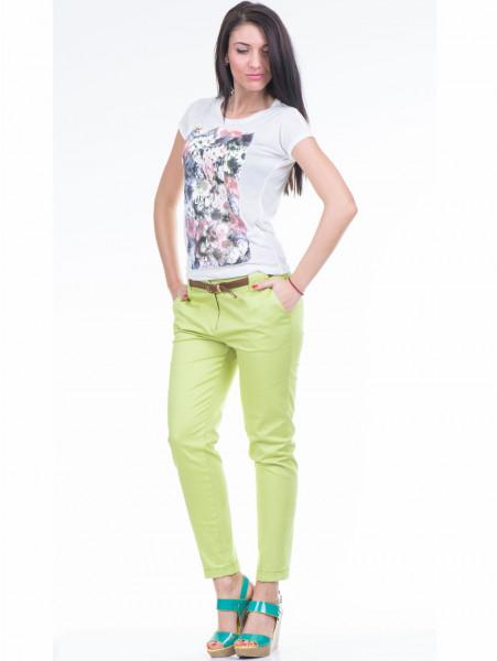 Дамска тениска с флорален десен JOGGY GIRLS 4862 - цвят екрю C