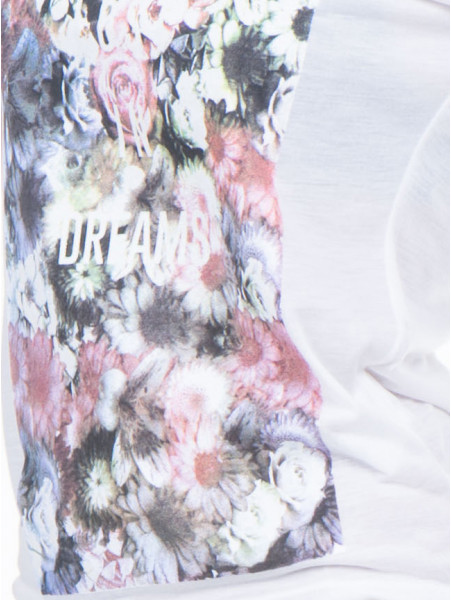 Дамска тениска с флорален десен JOGGY GIRLS 4862 - цвят екрю D