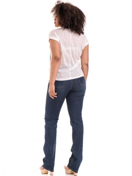 Дамска блуза с флорални мотиви JOGGY GIRLS 5278 - цвят бял E