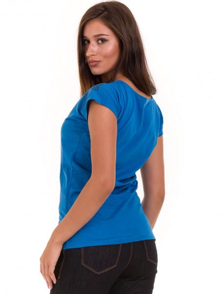 Дамска тениска с щампа  MISS POEM 15836 - синя B